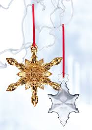 baccarat 2017 annual snowflake ornament clear