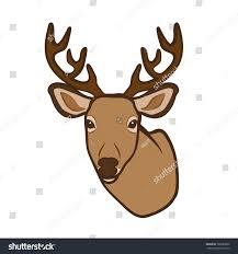 deer head vector stock vector 160983806 shutterstock
