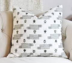 Designer Throw Pillows For Sofa by Zak And Fox Designer Linen Pillow Gray Bohemian Pillow Cover