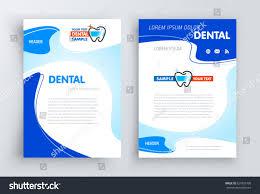 brochure dental stomatology design template cover stock vector
