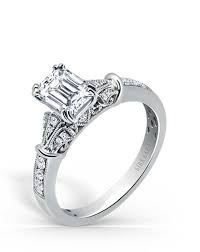 vintage emerald cut engagement rings emerald cut engagement rings