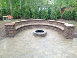 custom outdoor fire pits custom hardscape bench and fire pit in webster ny using belgard