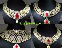 diamond necklace collection images Malabar gold dazzling diamond necklace collection jewellery designs jpg