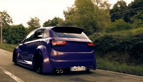 volkswagen polo modified interior purple polo 6r with audi a1 kit and lambo doors looks horrible
