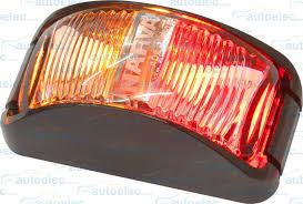 led side marker lights 2x narva led side marker red amber trailer clearance light lamp 12v