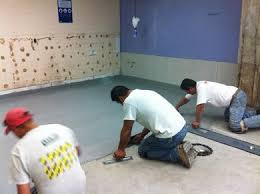 Commercial Kitchen Flooring Replacing Worn Out Restaurant Kitchen Floor Tile With Urethane