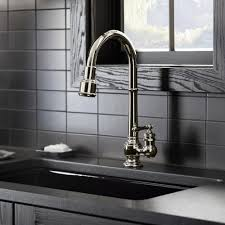 kohler k 99259 cp artifacts single hole kitchen sink faucet with