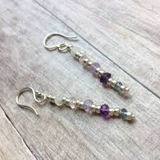 serenity earrings serenity earrings in silver lavender and zambian amethyst