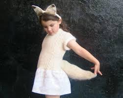 Fox Halloween Costume Arctic Fox Costume Halloween Girls White Fox Sewnnatural 78 00