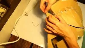 46 king leonidas helmet part 2 gluing cardboard with template
