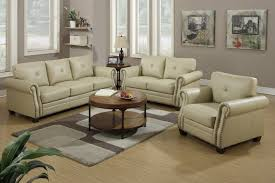 Beige Leather Loveseat Stunning Sofa And Loveseat Set 1378 Furniture Best Furniture
