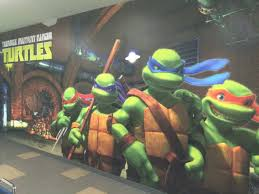 custom party rooms large wall mural to party with the 4 teenage mutant ninja turtles 24 person capacity flat screen tv with dvd blue ray player movies must be pre approved