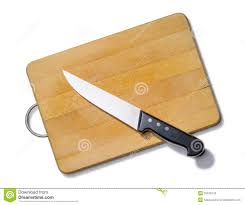 Kitchen Cutting Knives Wooden Cutting Board With Kitchen Knife Stock Photo Image Of