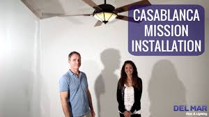 Mission Style Ceiling Fan Casablanca Mission Ceiling Fan Installation Youtube