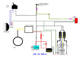cl 350 minimal wiring diagram useful information for motorcycles