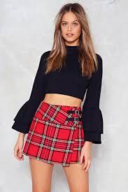 plaid skirt along the lines tartan skirt shop clothes at gal