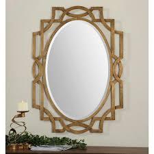 Uttermost Mirror Margutta Gold Oval Mirror