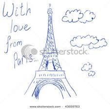 picture eiffel tower sketch and