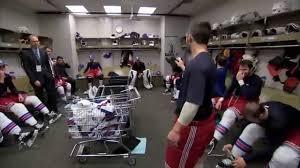 new york rangers ecf game 2 locker room celebration youtube