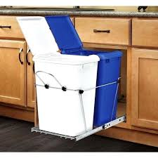 kitchen trash can ideas brilliant door mounted kitchen garbage can ins door mounted