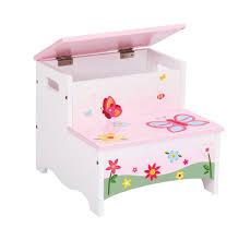 guidecraft butterfly buddies kids step stool storage step up