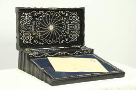travel desk images Macassar ebony antique 1890 inlaid lap or travel desk british jpg