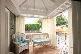 Cabana Curtains Private Porch With Curtains Cabana Feeling Within Private Yard