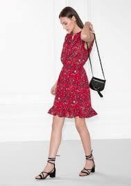 sleeveless frill dress red heart bandana print u0026 other stories
