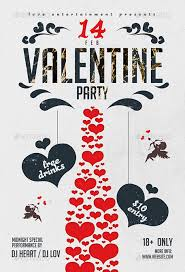 flyer template with good typography and valentine day graphic