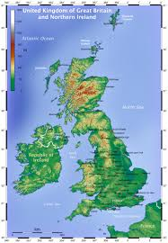 Physical Map Of Italy by Physical Map Of Great Britain Great Britain Physical Map