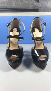 christian louboutin black leather sandals christian louboutin