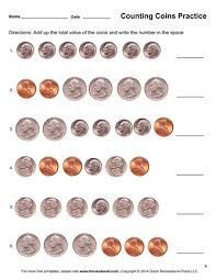pictures on free printable counting coins worksheets bridal catalog