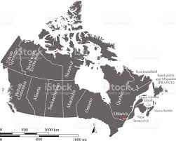 Map Of Canada Provinces Canada Map Vector Outline With Scales And Provinces And