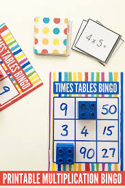 multiplication tables for children maths games for kids times tables bingo free printable