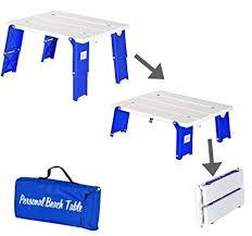 rio folding beach table amazon com compact folding beach table collapsible beach table