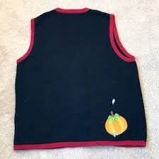 thanksgiving vest 67 sweaters thanksgiving pumpkin sweater vest size large from