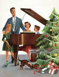 family singing christmas carol pictures getty images