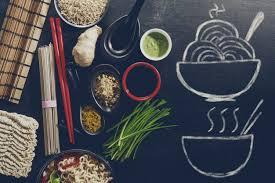 cuisiner asiatique variété différente de nombreux ingrédients pour cuisiner une