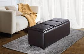 square black leather storage ottoman u2014 home ideas collection