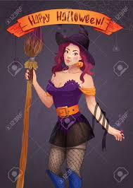 pretty halloween pictures pretty witch halloween with a broom and a hat greeting
