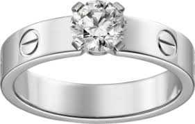 cartier engagement rings crn4723700 solitaire white gold cartier