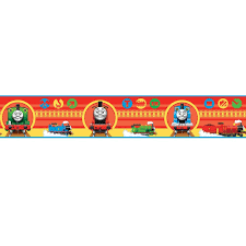wallpaper borders uk for bedroom vesmaeducation com fun4walls thomas the tank engine and friends childrens kids wallpaper border bo05626 wallpaper borders for