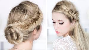 chignon mariage facile a faire tuto coiffure pour noël les fêtes de fin d ée soirée mariage