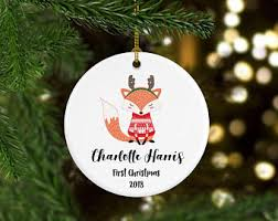 baby fox ornament etsy