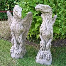 pair of griffin garden statues