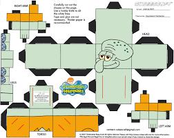 7 best images of spongebob cutouts and printables spongebob 3d
