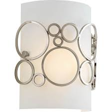 Shop Wall Sconces At Lowes by Shop Progress Lighting Bingo 7 75 In W 1 Light Brushed Nickel