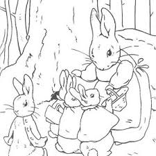 peter rabbit mother peter rabbit sister bed coloring