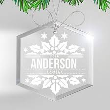 personalized glass christmas ornament our first wedding family