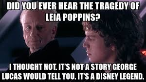 Leia Meme - the tragedy of leia poppins prequelmemes